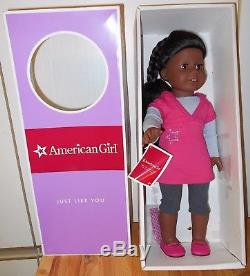NIB NEW AMERICAN GIRL JUST LIKE YOU African American Dark Skin Doll