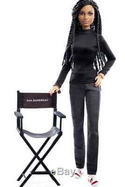 NRFB Barbie Ava DuVernay doll HARD TO FIND! African American Female Director