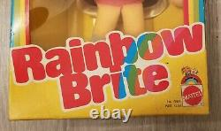 NRFB Mattel Rainbow Brite Shy Violet & IQ Sprite Doll MIB 1982 new in box NIB