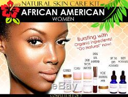 Natural Skin Care Kit for African American Black Women Skin Lightening Toning 7