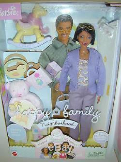 New 2 Happy Family Barbie Dolls Grandparent African American Grandma Grandpa