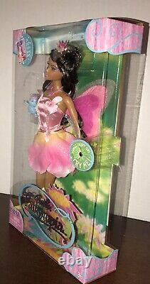 New Fairytopia ELINA Barbie Doll AND BIBBLE Magical Wings light up Near MINT