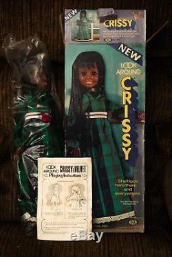 New IN BOX! Vintage Black Look Around Crissy Doll African American by Ideal 1972