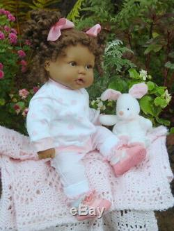 New in Box Berenguer 20 African American Doll With Makeover & Extras