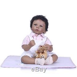 Newborn Doll Dark Skin 20 African American Boy Reborn Toddler, Jason, Lifelike
