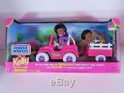 Nib Barbie Doll 1997 Kelly And Tommy Power Wheels Aa African American Black