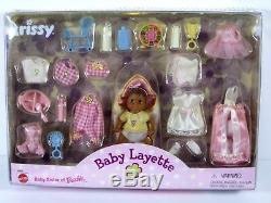 Nib Barbie Doll Black African American 1999 Baby Layette Krissy