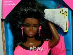 Nib-very Rare-1993-long Glitter Hair Christie Barbie Doll-african American-aa
