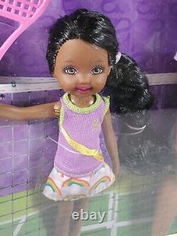 Nrfb N199 Barbie Sis Aa So In Style Grace & Sister Courtney Tennis Fun Doll Mib