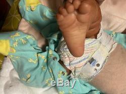 Ooak Reborn newborn baby Girl Evelyn by Cassie Brace