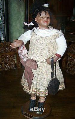 Orig 30 African American Porcelain Doll by Mary Ann Osdell #8 of 15 Paid $1,500