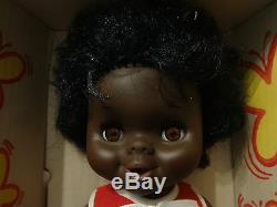 Original NOS 1969 Baby Janie Doll Shindana NIB w Box Black AA African American