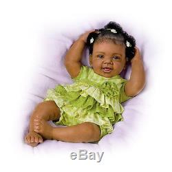 Precious 18 So Real Life Like African American Green Dress Baby Doll Dolls New