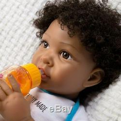 Paradise Galleries African American Black Reborn Baby Boy Doll, Wonderfully Made