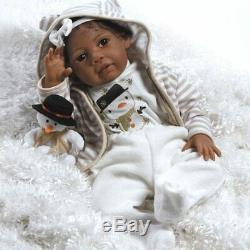 Paradise Galleries Reborn African American Black Baby Girl Doll Kione, 20 inch