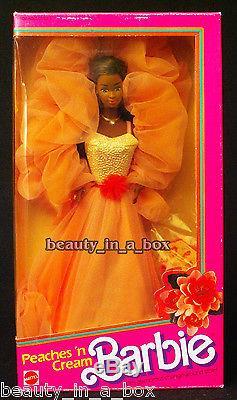 Peaches'n Cream AA Barbie Doll Box has wear. African American NRFB