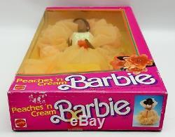 Peaches'n Cream Barbie Doll African American AA 1984 Mattel No. 9516 NRFB