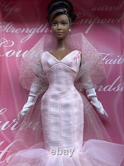 Pink Ribbon Barbie Collector AA Black Doll Pink Label New NRFB 2006 Mattel