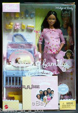 Pregnant Midge & Baby Barbie Doll Pink Alan Happy Family African American AA