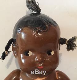 RARE 1930s Effanbee African American Black PATSY BABYKin Composition Doll TLC