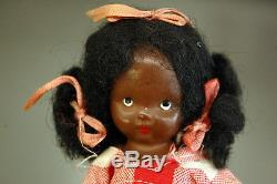 RARE 1940's Nancy Ann Storybook TOPSY Black African American Jointed Bisque Doll