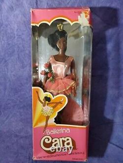 RARE 1975 Vintage BALLERINA CARA Barbie Doll African American Beauty BIN! #9528