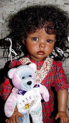 RARE African American Hilary By Dianna Effner 1987 Full Porcelain OOAK 24