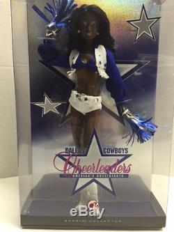 RARE Barbie Dallas Cowboys Cheerleader African American Doll New in Sealed Box