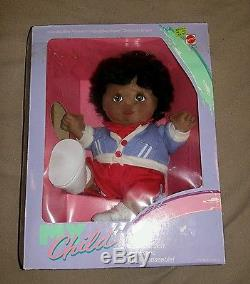 RARE Mattel My Child Doll African American Girl Boy NIB Black Hair Brown Eyes