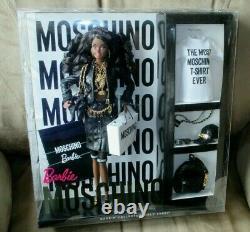 RARE Moschino AA Barbie NRFB No more than 700 African American worldwide! Sh