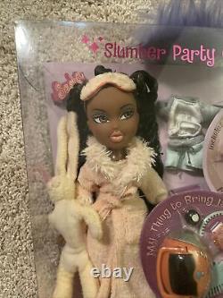 RARE NEW MINT 2002 BRATZ SLUMBER PARTY SASHA TOTY MGA BLACK Doll Nighty Nite