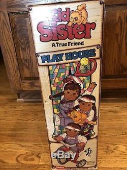 RARE NIB Vintage Playskool Kid Sister African American Doll New In Open Box