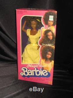 RARE Vintage AA 1981 MAGIC CURL African American Barbie Doll NRFB Steffie face