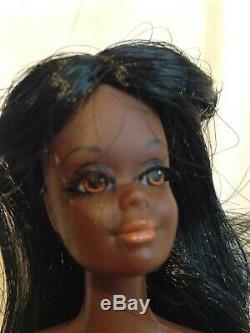 RARE Vintage Live Action Barbie Doll Christie African American Black 1968 Mattel