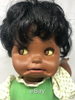 RARE Vintage Mattel 1972 African American Saucy Doll 16 tall BLACK AA WORKS