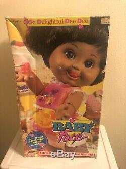 Rare 1990 Galoob Baby Face So Delightful Dee Dee Doll African American New NRFB