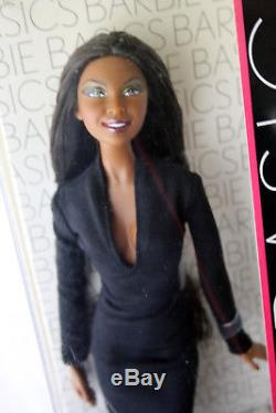 Rare 2009 Barbie Basics 10-001 African American Doll Black Label New