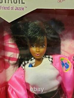 Rare African American Stacie High School Jazzie Barbie Doll Mattel 3636 Nrfb