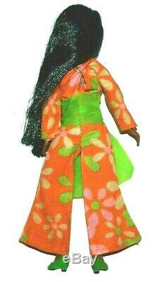 Rare HTF Uneeda African American Triki Miki Dollikin Super HTF Dawn Clone Doll