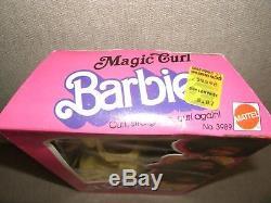 Rare Magic Curl Barbie African American, Black Doll 1981 Classic