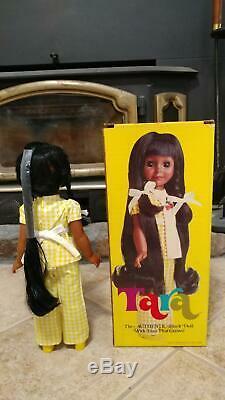 Rare VINTAGE 1976 IDEAL Crissy TARA BLACK DOLL RARE AFRICAN AMERICAN AA MIB