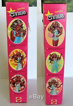 Rare Vintage Supersize Superstar Christie Barbie doll Mattel 1976 NRFB