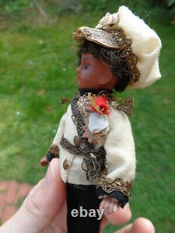 Rare antique mignonette doll with original clothes