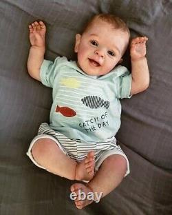 Real Lifelike Soft Silicone 24'' Reborn Baby Toddler Boy Doll Newborn Dolls Gift
