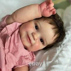 Real Soft Silicone 24'' Reborn Maddie Baby Toddler Girl Doll Newborn Dolls Gifts