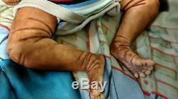 Realistic Lifelike Ethnic African American Reborn baby boy doll Ooak