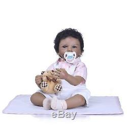 Realistic Reborn African American Baby Boy Dolls Black Reborn Baby Dolls 20 inch