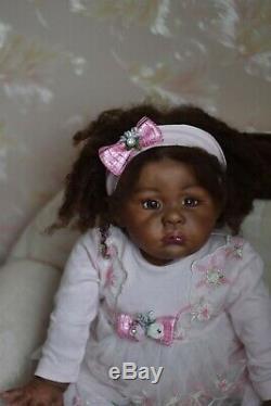 Realistic baby ethnic Lilli-Marlaine by Sylvia Manning, Artist Olga Torgova