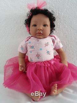 Reborn 19 African American/Ethnic/AA baby girl doll Shyanna-7-10 days