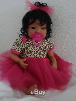 Reborn 19 African American/Ethnic/AA infant baby girl doll Shyann